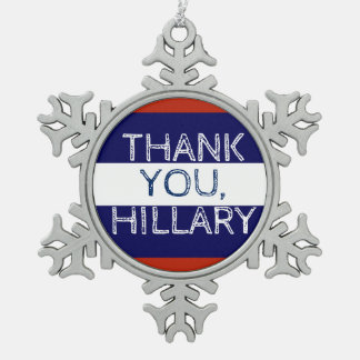 Thank You Hillary Snowflake Christmas Snowflake Pewter Christmas Ornament
