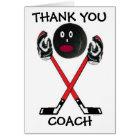 Thank You Hockey Coach Card