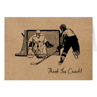 Thank You Hockey Coach! Card Ink Sketch