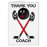 Thank You Hockey Coach Greeting Card