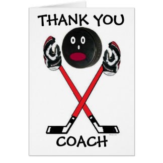 Thank You Hockey Coach Greeting Card