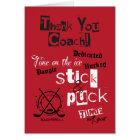 Thank You Hockey Coach! Greeting Card