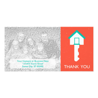 thank you home key personalized photo card