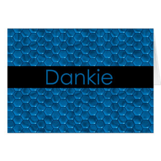 Thank You in Afrikaans Dankie Card