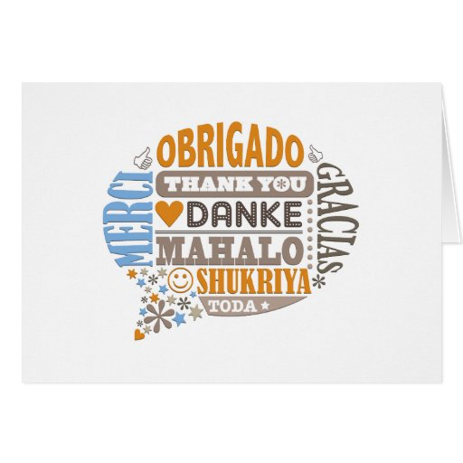 Thank You In Many Languages Greeting Card Zazzle
