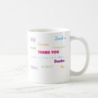 Thank You in Many Languages mug