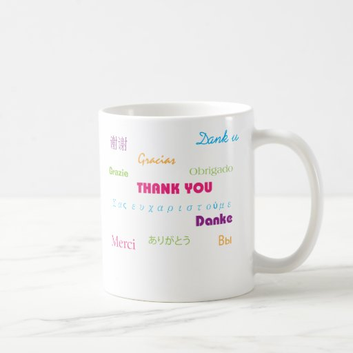 Thank You in Many Languages mug