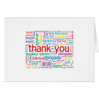 "THANK YOU IN MANY LANGUAGES ""THANK YOU"" CARD"