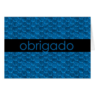 Thank You in Portuguese Obrigado Greeting Card