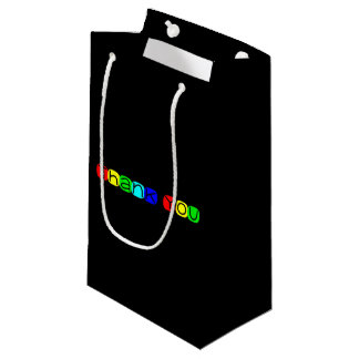 Thank You in Rainbow Colors 434 Small Gift Bag