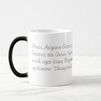 Thank you in several languages 11 oz magic heat Color-Changing coffee mug