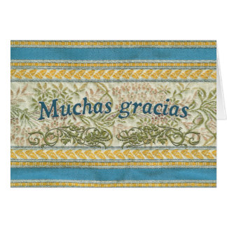Thank You in Spanish, Muchas Gracias Card