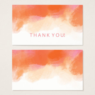 Thank You Insert Blush Pink Coral Watercolor