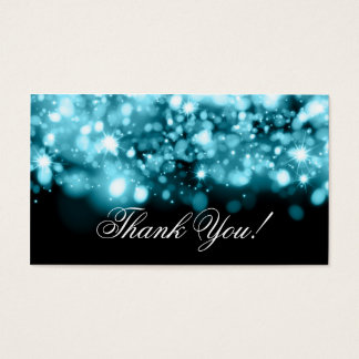 Thank You Insert Sparkling Lights Turquoise
