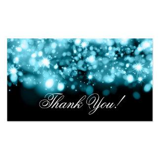 Thank You Insert Sparkling Lights Turquoise Pack Of Standard Business Cards