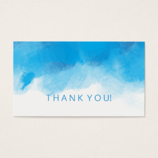 Thank You Insert Summer Blue Watercolor