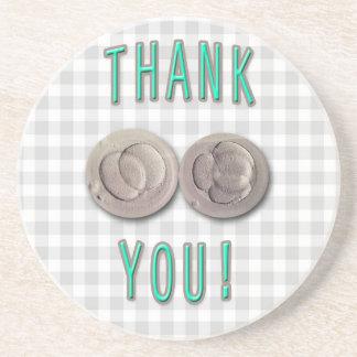 thank you ivf invitro fertilization embryos beverage coaster