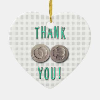 thank you ivf invitro fertilization embryos ceramic heart ornament
