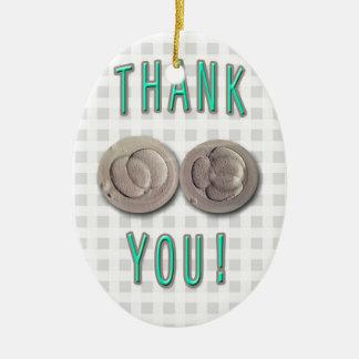 thank you ivf invitro fertilization embryos ceramic oval ornament