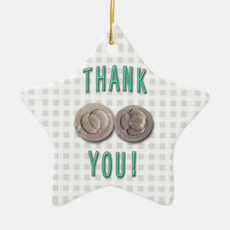 thank you ivf invitro fertilization embryos ceramic star ornament