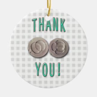 thank you ivf invitro fertilization embryos round ceramic ornament