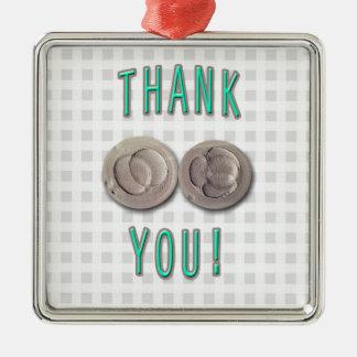 thank you ivf invitro fertilization embryos Silver-Colored square ornament