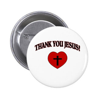 Thank You Jesus (Heart) 2 Inch Round Button