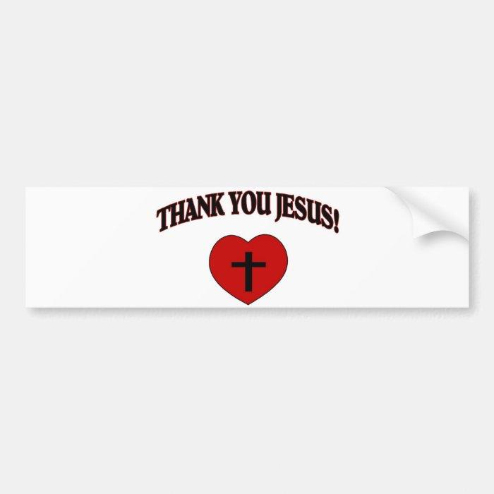 Thank You Jesus (Heart) Bumper Sticker