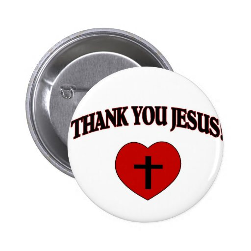 Thank You Jesus (Heart) Button