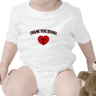 Thank You Jesus Heart Baby Bodysuit