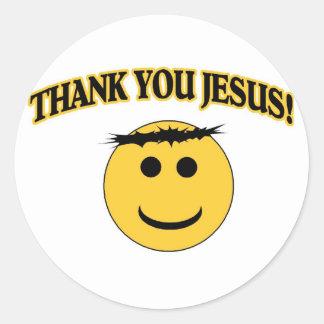 Thank You Jesus Round Sticker