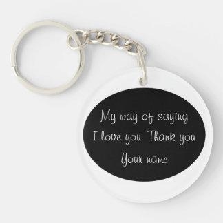 Thank You - Keychain