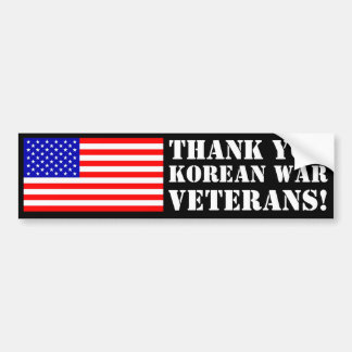 Thank You Korean War Veterans! Bumper Sticker