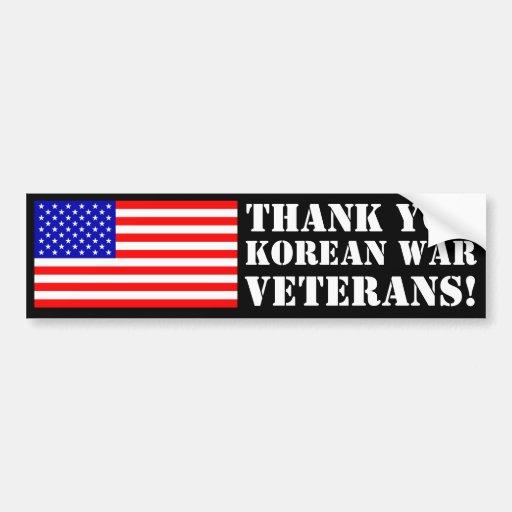 Thank You Korean War Veterans! Bumper Stickers