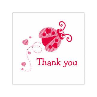 Thank you ladybug ladybird hearts stamp
