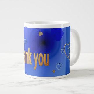 Thank you large coffee mug