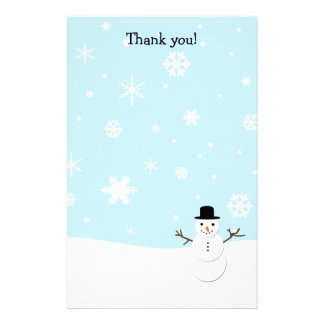 Thank you letters Christmas stationary Customized Stationery