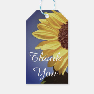 Thank You Lilac Yellow  Sunflower Gift Tag