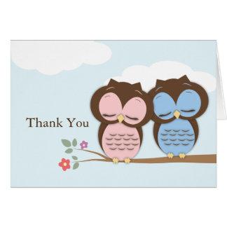 Thank You Little Owls Card