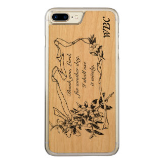 """Thank you, Lord, for another day"" Reminder Design Carved iPhone 8 Plus/7 Plus Case"