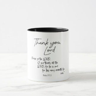 Thank you Lord Quote with Bible Verse Mug