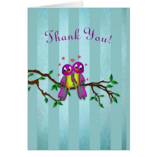 THANK YOU - LOVE BIRDS CARD