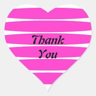 Thank You Love heart sticker
