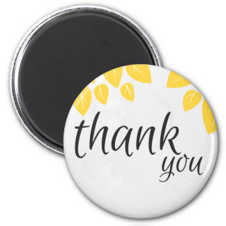 Thank you magnet with yellow leaves