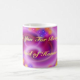 Thank You Maid Of Honor Swirly Heart Mug
