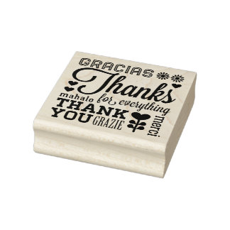 Thank You Many Ways Rubber Art Stamp
