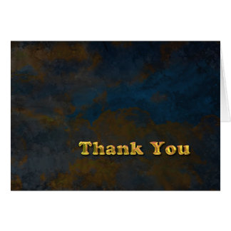 Thank You - Masculine Gold Card