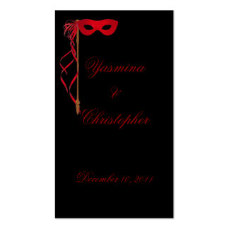 """Thank you...."" Masquerade Mask Bookmark Business Card"