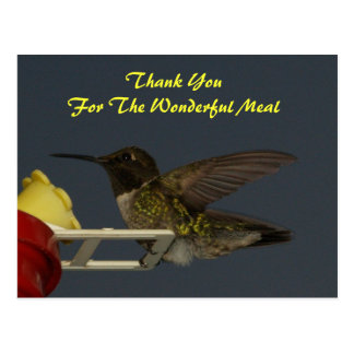 Thank You /Meal Postcard