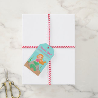 Thank You Mermaid Girls Birthday Party Gift Tags